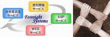 WEBシステム開発を通してお客様の利益に貢献するシステムサポートとサービスを提供する沖縄の株式会社フォーサイト・システムズ:トップページの4本の手